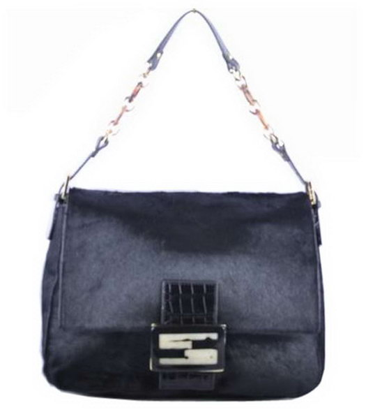Fendi Forever Mama Shoulder Bag With Black Horsehair Leather
