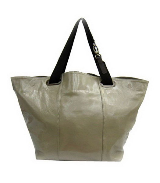 Marni Oversized Grey Leather Tote Bag