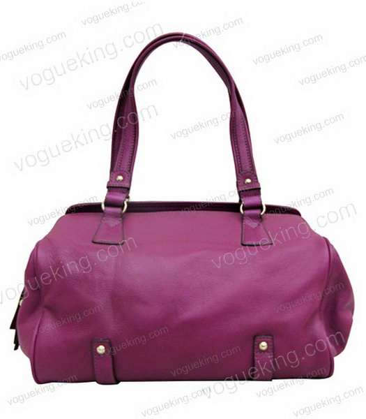 Marni Purple Cowhide Leather Shoulder Handbag-1