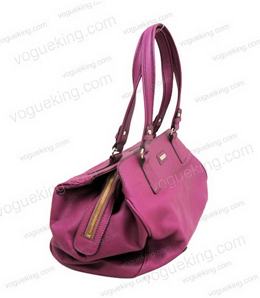 Marni Purple Cowhide Leather Shoulder Handbag-2