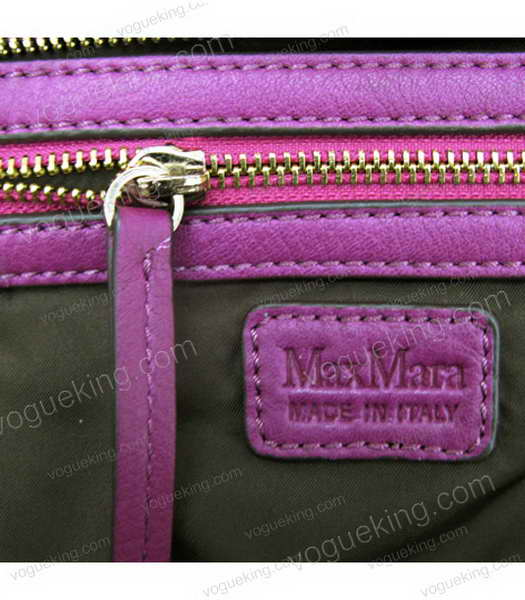 Marni Purple Cowhide Leather Shoulder Handbag-6