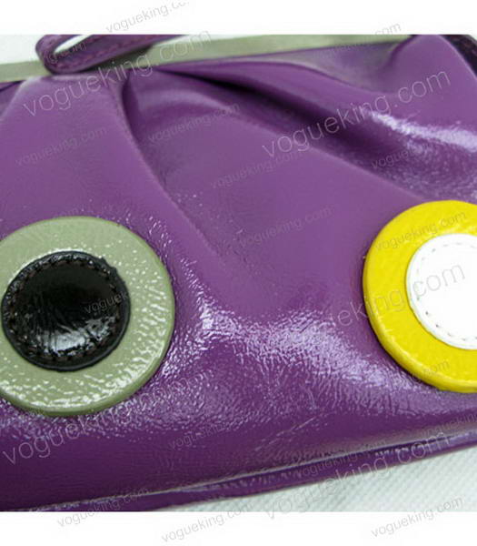Marni Purple Napa Leather Messenger Bag-5