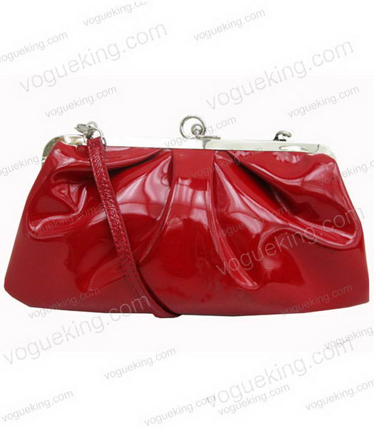 Marni Red Patent Leather Messenger Bag-1