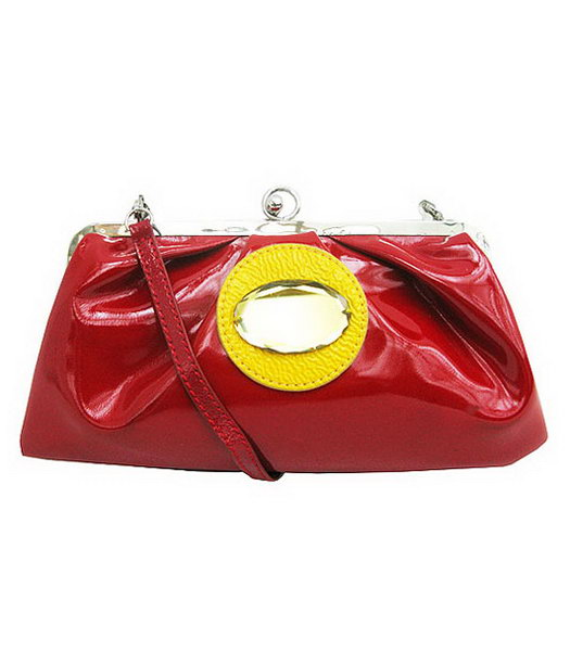 Marni Red Patent Leather Messenger Bag