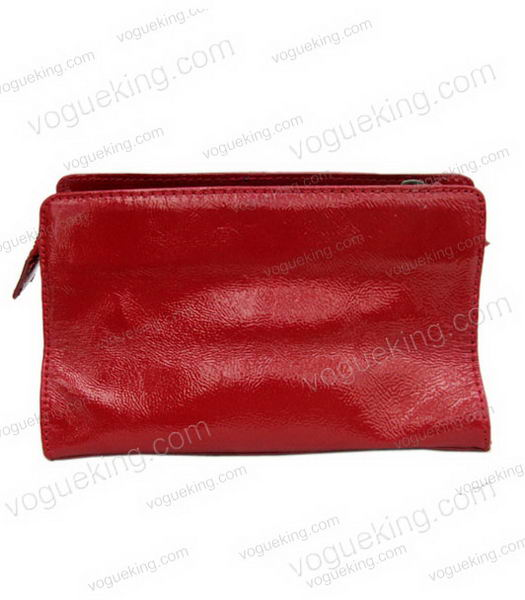 Marni Patent Leather Clutch Red _1
