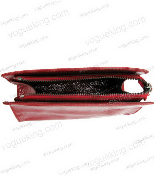 Marni Patent Leather Clutch Red _3