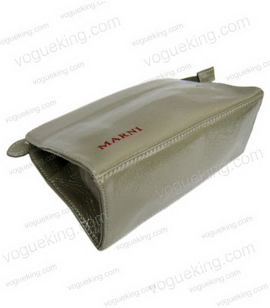 Marni Patent Leather Clutch Grey -2
