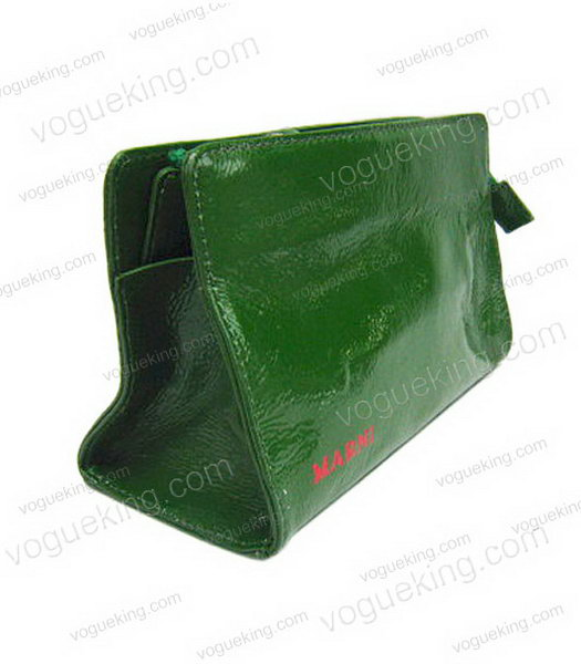 Marni Patent Leather Clutch Green_1
