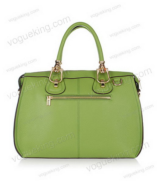 Hermes Medium Double-duty Green Togo Leather Bag Golden Metal-2