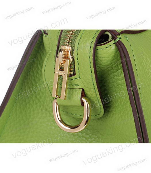 Hermes Medium Double-duty Green Togo Leather Bag Golden Metal-5