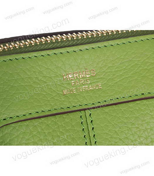 Hermes Medium Double-duty Green Togo Leather Bag Golden Metal-6