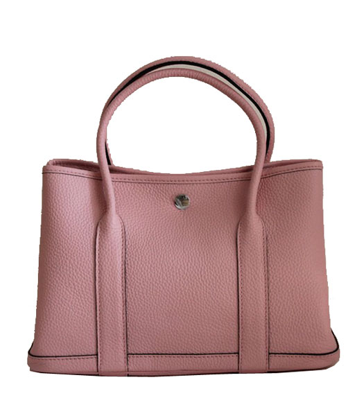Hermes 32cm Small Garden Party Bag in Pink Togo Leather
