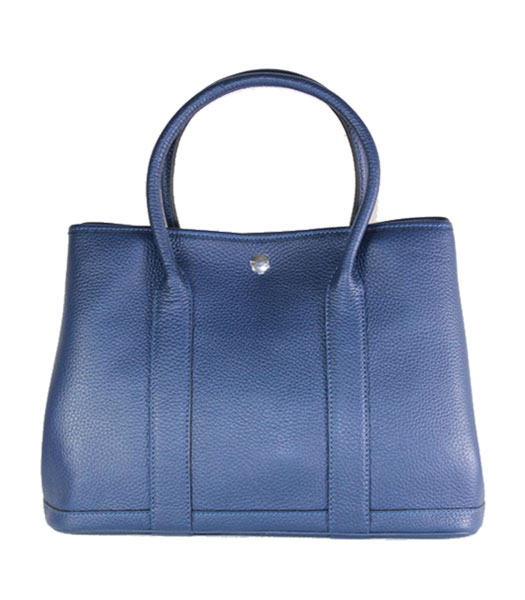 Hermes 32cm Small Garden Party Bag in Dark Blue Togo Leather