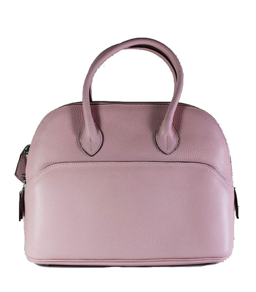 Hermes Small Bolide Togo Leather Tote Bag in Pink