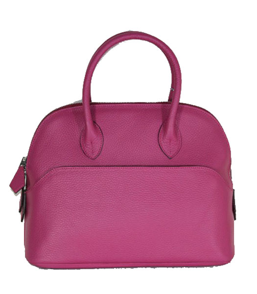 Hermes Small Bolide Togo Leather Tote Bag in Fuchsia
