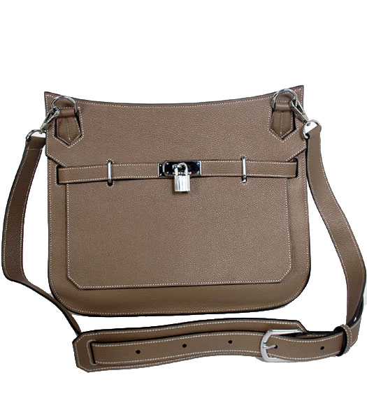 Hermes Jypsiere 34cm Messenger Bag in Grey Bovine Jugular Veins