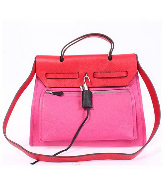 Hermes Kelly 32cm PinkRed Togo Leather Silver Metal