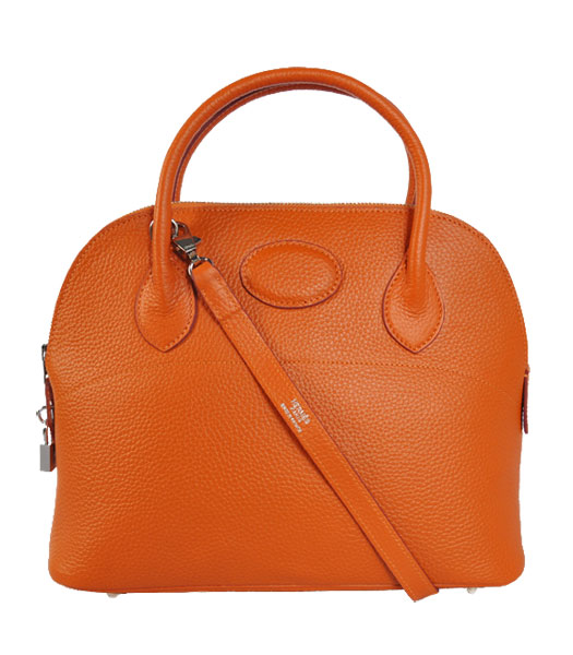 Hermes Bolide 31cm Togo Leather Small Tote Bag in Orange