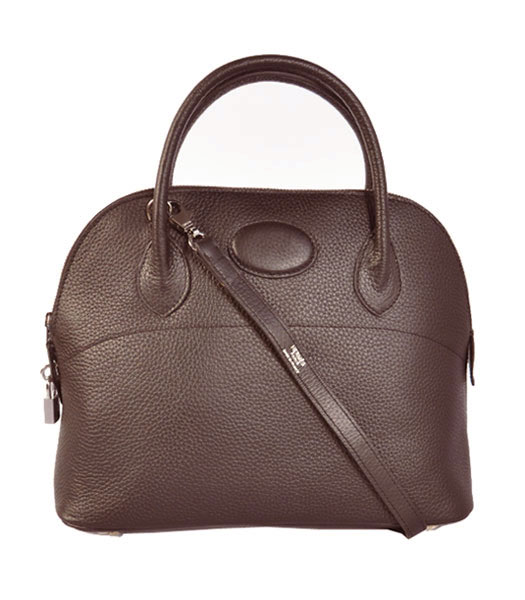 Hermes Bolide 31cm Togo Leather Small Tote Bag in Dark Coffee