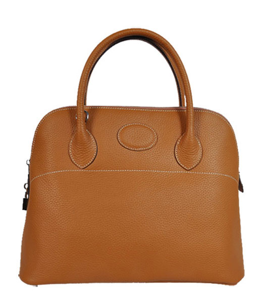Hermes Bolide 37cm Togo Leather Tote Bag in Light Coffee