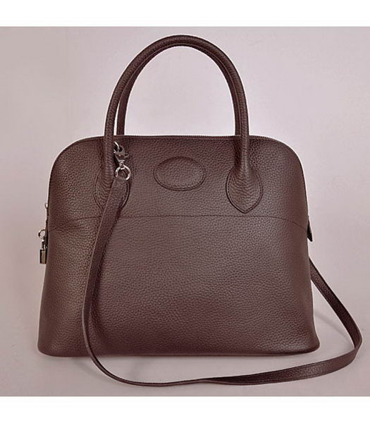 Hermes Bolide 37cm Togo Leather Tote Bag in Dark Coffee-1