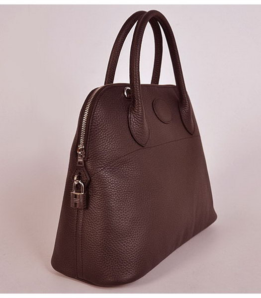 Hermes Bolide 37cm Togo Leather Tote Bag in Dark Coffee-2
