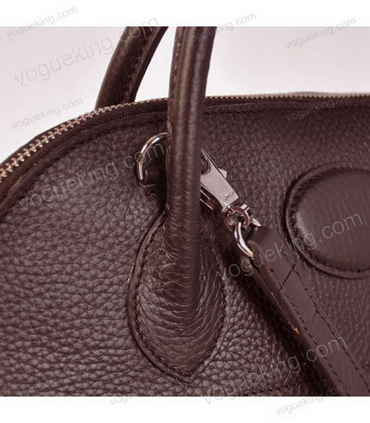 Hermes Bolide 37cm Togo Leather Tote Bag in Dark Coffee-5