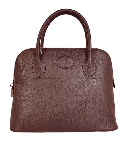 Hermes Bolide 37cm Togo Leather Tote Bag in Dark Coffee