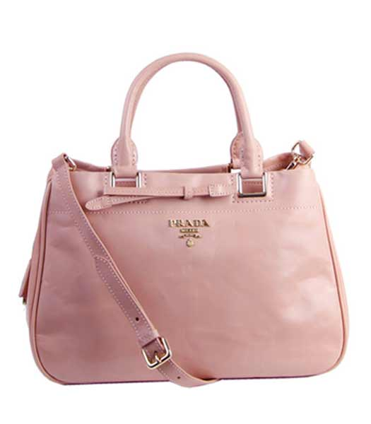Prada Soft Pink Imported Calfskin Leather Tote Bag