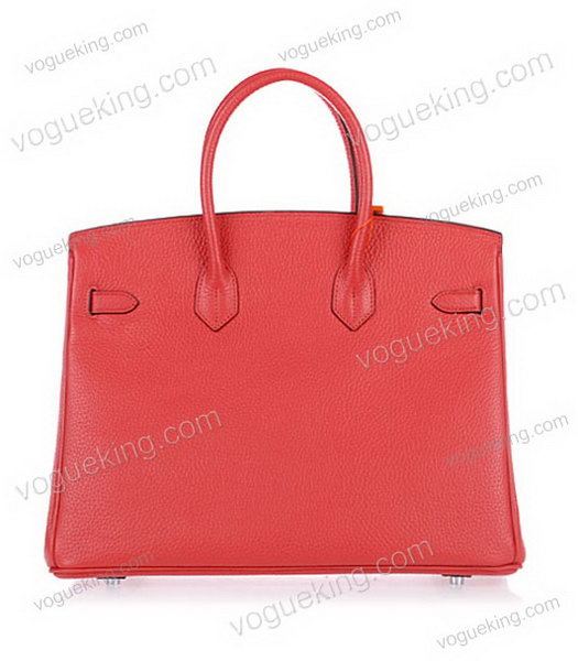 Hermes Birkin 35cm Horse-drawn Carriage Red Togo Leather Bag Silver Metal-2