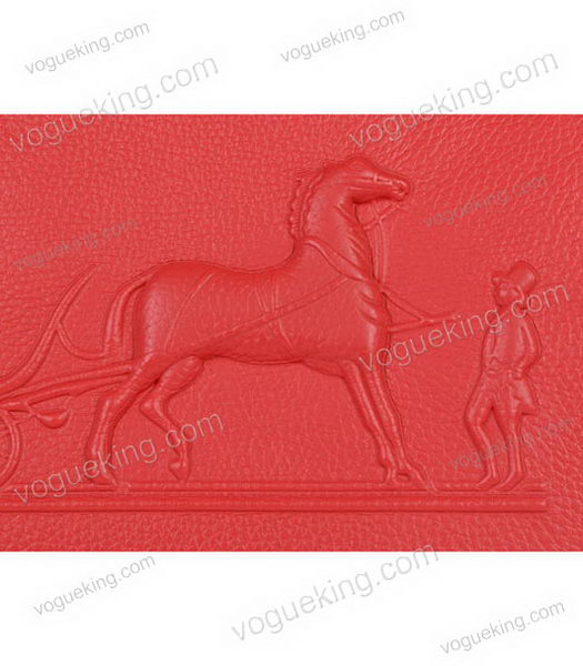 Hermes Birkin 35cm Horse-drawn Carriage Red Togo Leather Bag Silver Metal-4