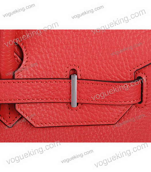 Hermes Birkin 35cm Horse-drawn Carriage Red Togo Leather Bag Silver Metal-5