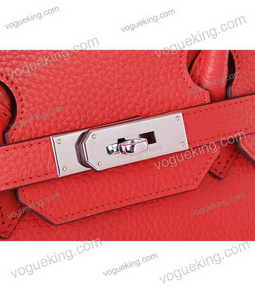 Hermes Birkin 35cm Horse-drawn Carriage Red Togo Leather Bag Silver Metal-6