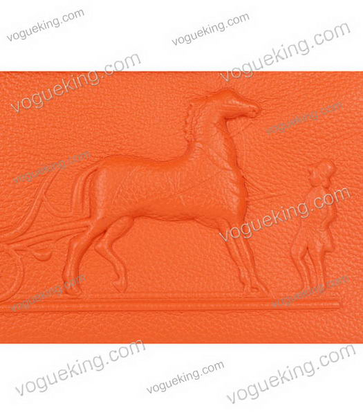 Hermes Kelly 35cm Horse-drawn Carriage Orange Togo Leather Bag Silver Metal-4