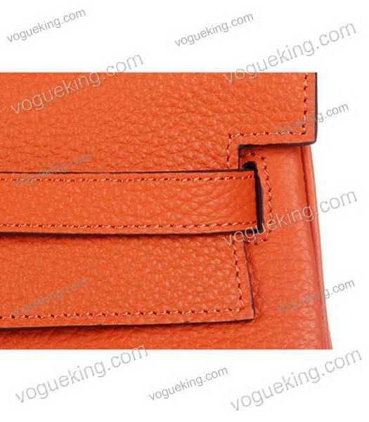 Hermes Kelly 35cm Horse-drawn Carriage Orange Togo Leather Bag Silver Metal-5