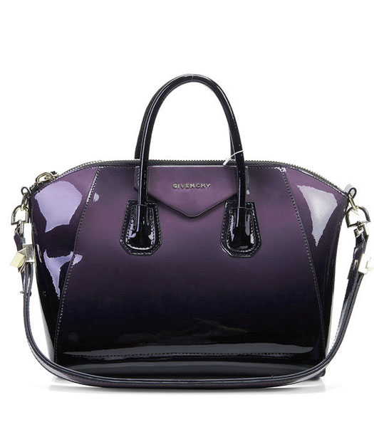 Givenchy Antigona Gradient Patent Leather Bag in PurpleBlack ...