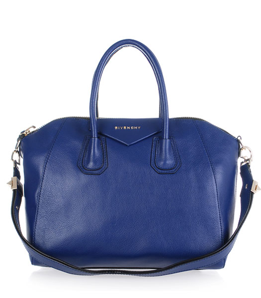 Givenchy Antigona Litchi Veins Leather Bag in Blue