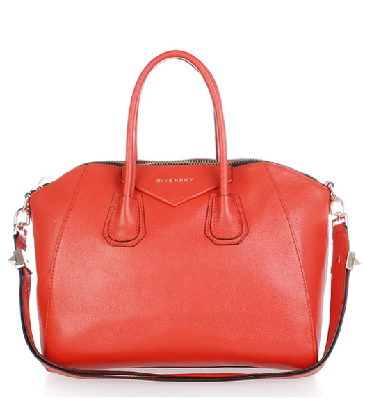 Givenchy Antigona Litchi Veins Leather Bag in Red