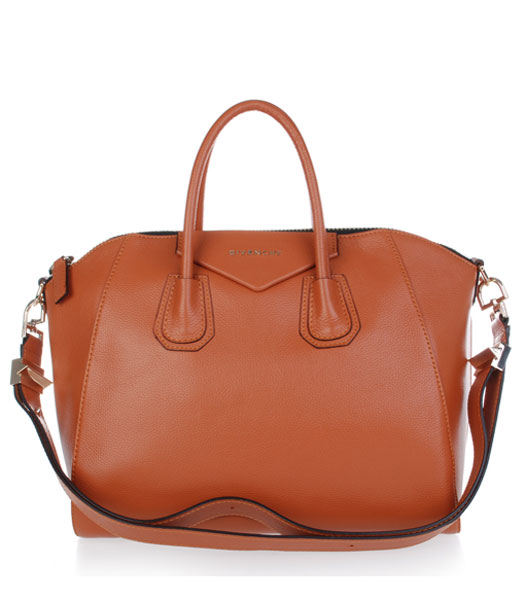Givenchy Antigona Litchi Veins Leather Bag in Earth Yellow