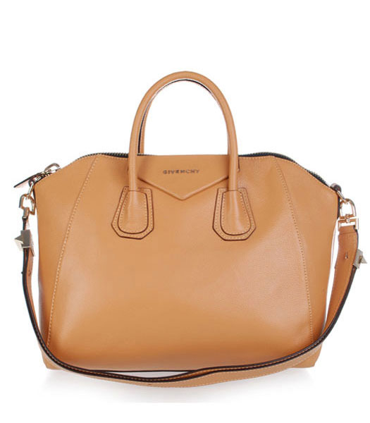 Givenchy Antigona Litchi Veins Leather Bag in Apricot