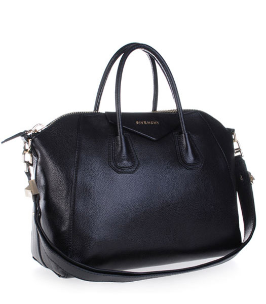 Givenchy Antigona Litchi Veins Leather Bag in Black