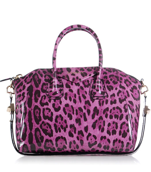 Givenchy Antigona Leopard Print Leather Bag in Pink