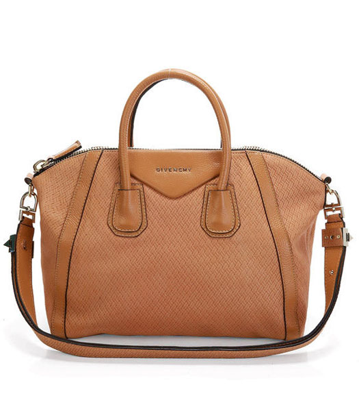 Givenchy Antigona Bag Embossing Weave Leather Earth Yellow