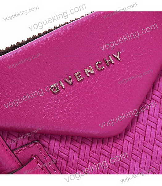 Givenchy Antigona Bag Embossing Weave Leather Peach-4