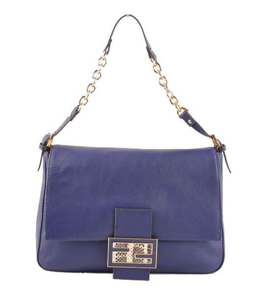 Fendi Forever Mama Shoulder Bag With Purple Ferrari Leather