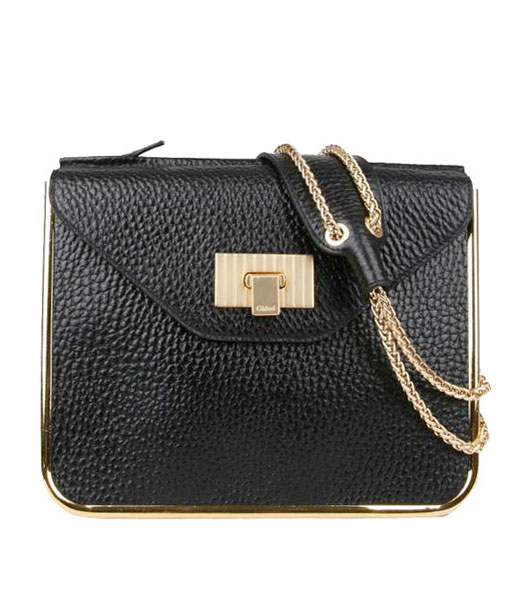 Chloe Sally Black Calfskin Leather Shoulder Bag