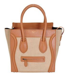 Celine Mini 33cm Large Tote Bag Apricot Ferrari With Suede Leather