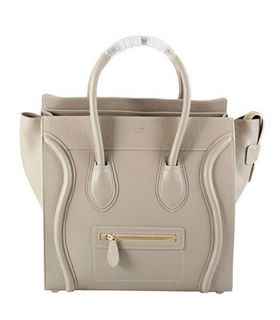 Celine Mini 30cm Medium Tote Bag Light Khaki Calfskin