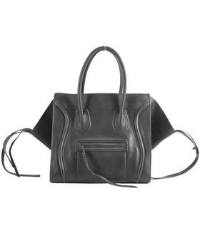 Celine Phantom Square Bag Light Grey Calfskin Leather