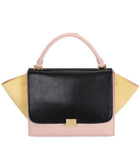 Celine Stamped Trapeze Shoulder Bag PinkJujubeApricot Suede Leather